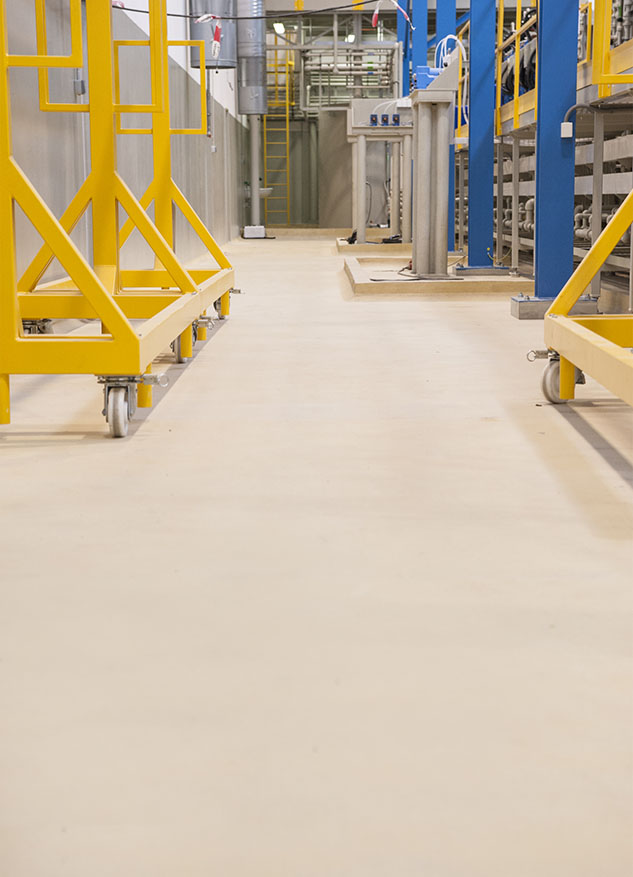 Špeciálna podlaha ucrete vo farbe cream