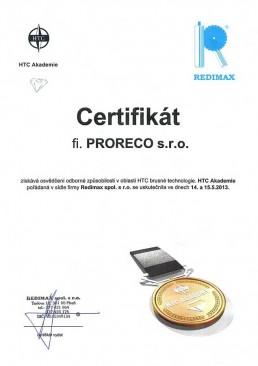 certifikát HTC
